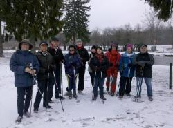 Marche nordique neige